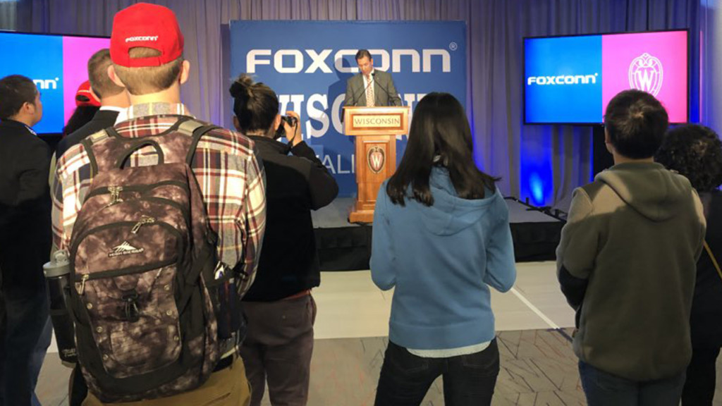 'It's a big deal': UW-Madison students, staff react to Foxconn recruiting on campus