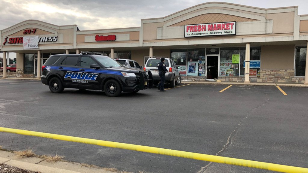 No injuries after SUV crashes into building in Marshall, police say