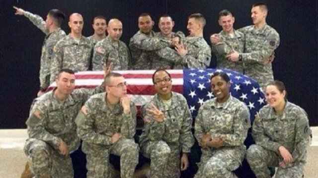 Soldier suspended over 'inappropriate' pictures from funeral honors duty