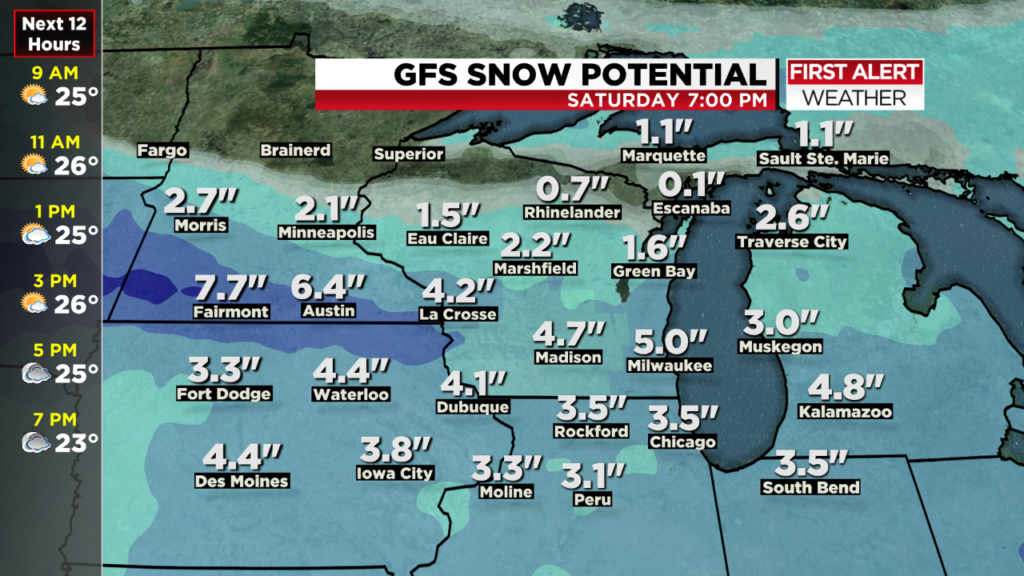 Strong storm could bring accumulating snow to southern Wisconsin this weekend
