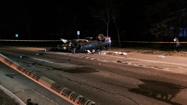 Rollover crash leaves one with 'very serious injuries,' police say