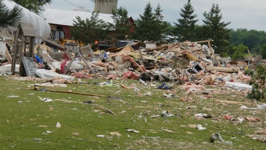 Debris 'scattered all over the place': Wisconsin home explodes, killing man who was likely asleep