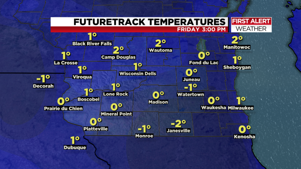 After the snow: Temperatures to drop by Friday