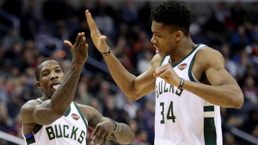Giannis leads Bucks to win in Washington, 104-95