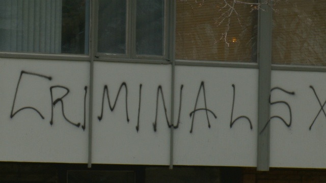 Vandalism affects neighborhood's rebranding progress