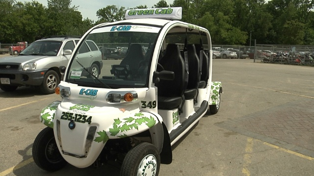 Electricity powers new free Green Cab downtown