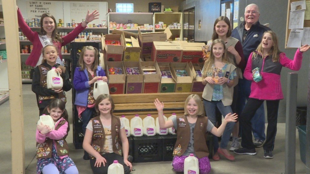 Girl Scouts make a special delivery