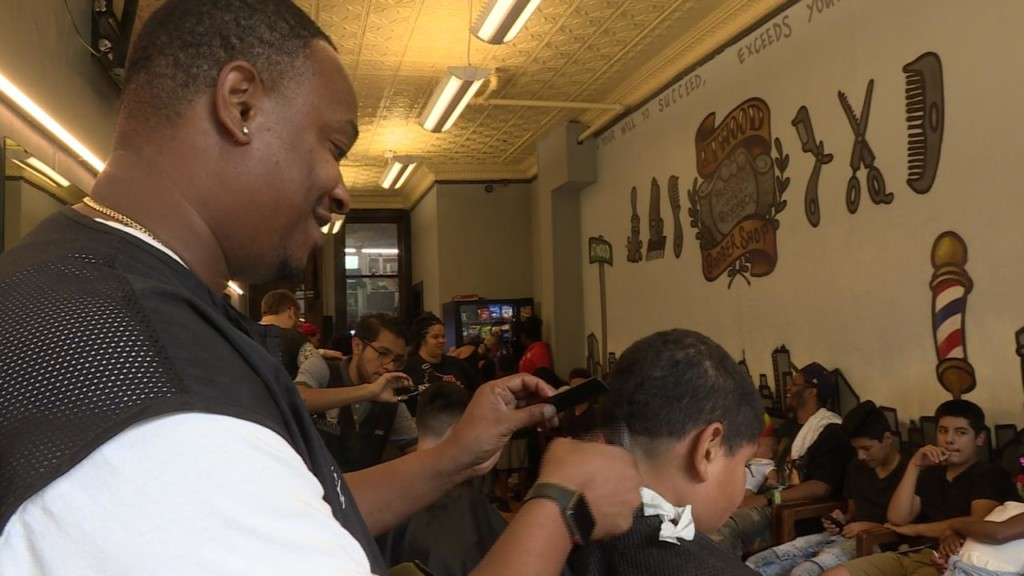 Atwood Barbershop offers free haircuts, school supplies for fresh start to school year