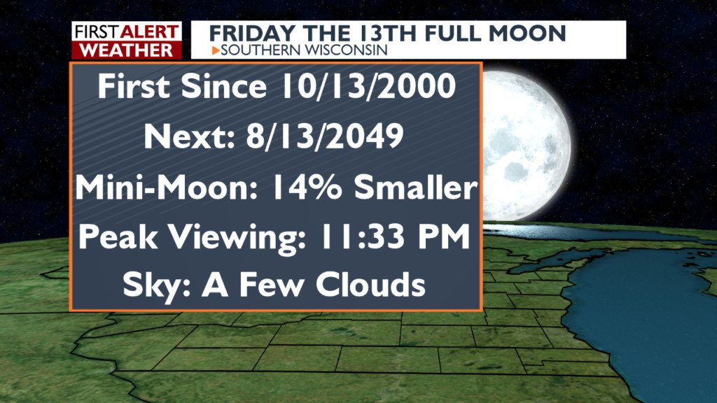 Spooky September sky: Full harvest moon falls on Friday the 13th