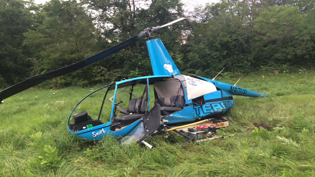 Helicopter crash in Westby