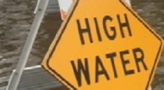 Wisconsin River flooding causes road closure