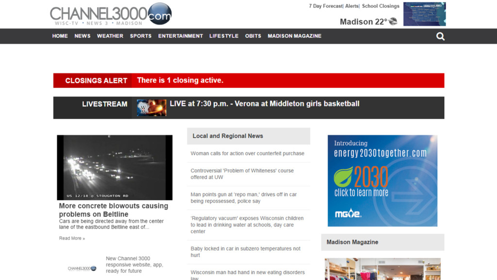 New Channel 3000 responsive website, app, ready for future