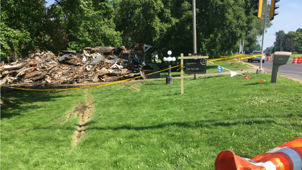 Roads reopen in Town of Beloit after car crashed into house, caused fire