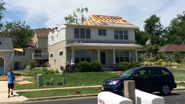 Verona family moves in together after tornado damages home