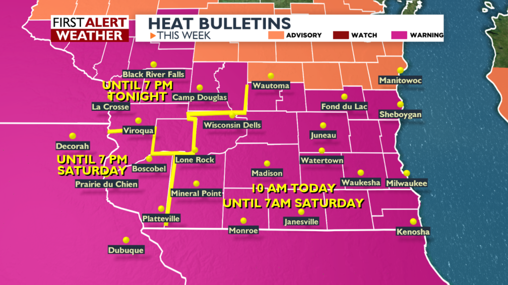 Dangerously hot conditions prompt Excessive Heat Warning