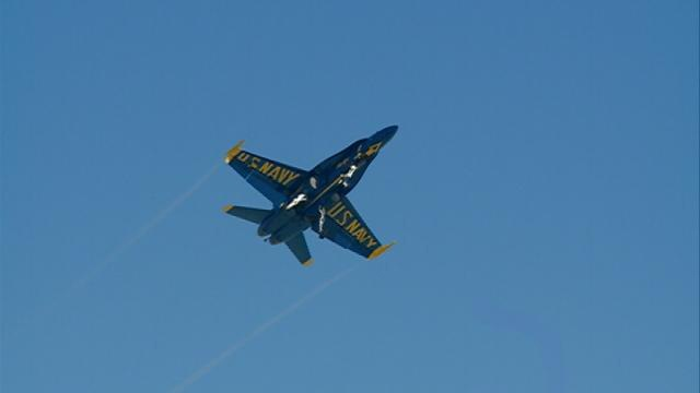 Blue Angels fly over La Crosse Wednesday