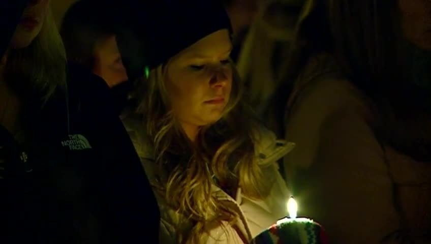 Family and friends remember WSU student with candlelight vigil