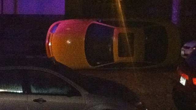 Cars flipped over during Oktoberfest weekend