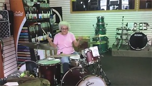 'Grandma Drummer' featured in Super Bowl commercial