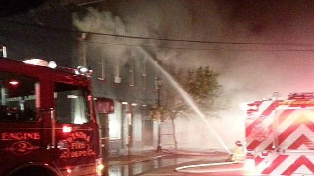 Fire destroys buildings, displaces residents in downtown Winona