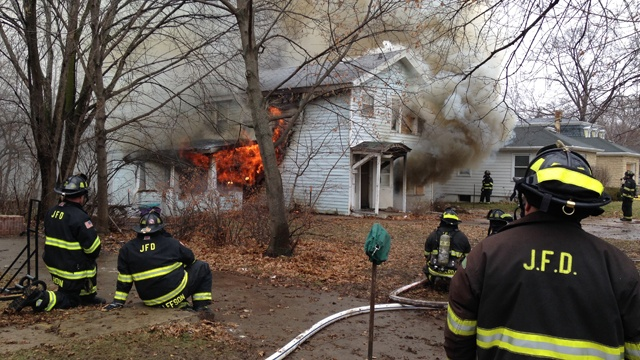 House fire is training, clears space for new fire department