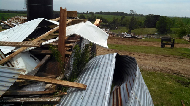 Storms, tornado cause damage in southern Wisconsin