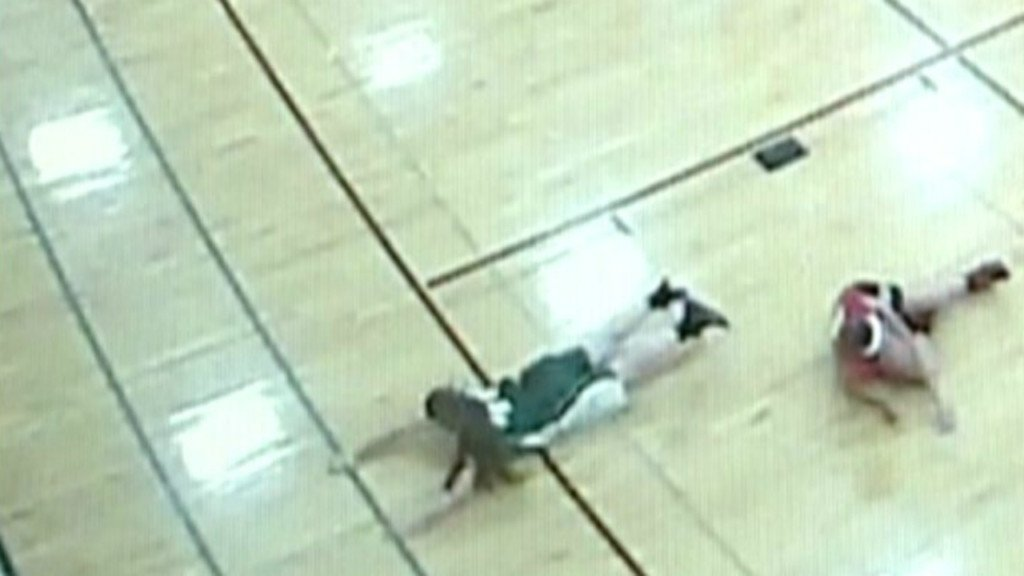 Basketball player impaled by gym floor revisits incident