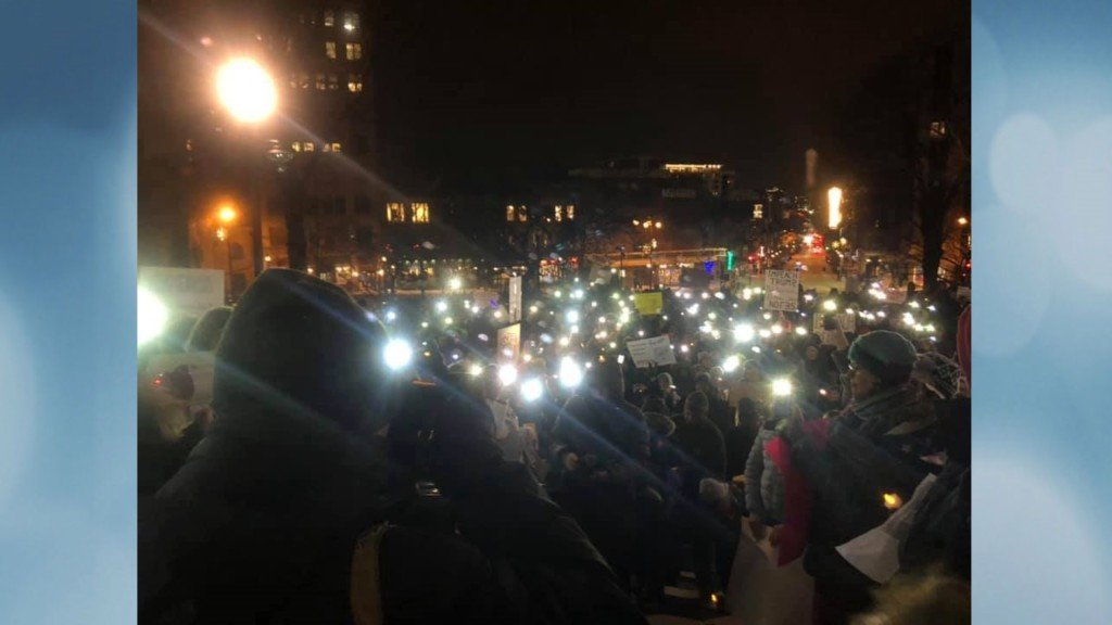 Madison protesters on Capitol steps join pro-impeachment rallies nationwide