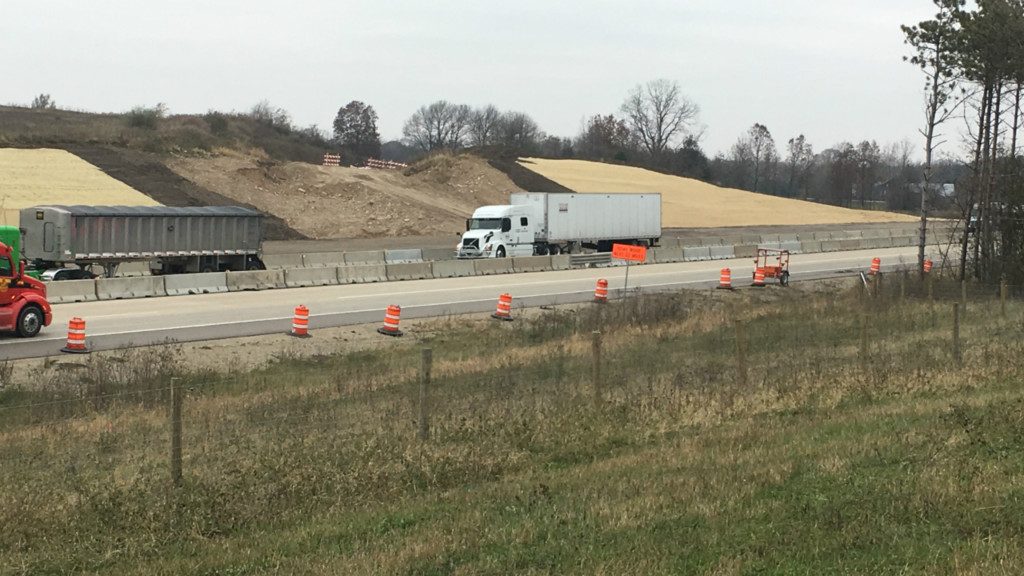 Frontage road work begins for Foxconn plant