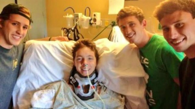 Friend: UW junior who broke neck diving into Lake Mendota improves daily