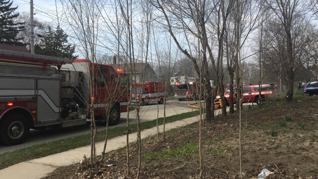 Five displaced in Janesville fire
