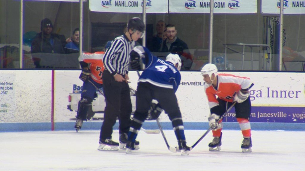 First responders face off on the ice for charity