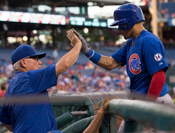 Cubs release Victorino, will put Baez on disabled