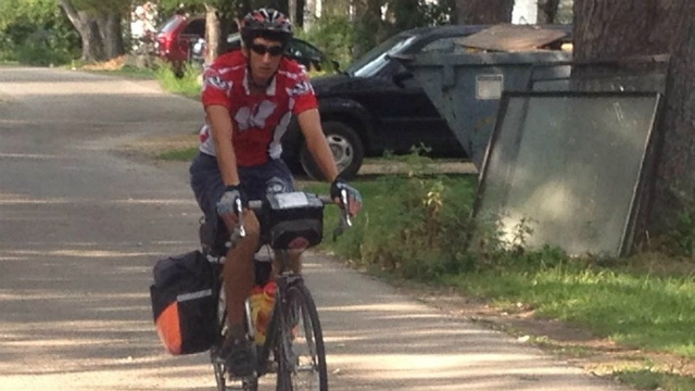 Local firefighter bikes cross county to honor fallen firefighters