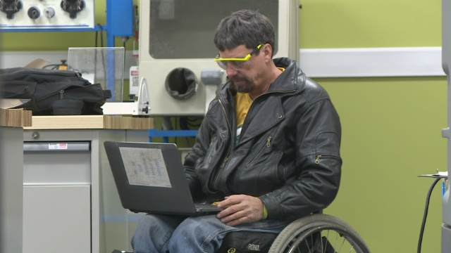 Disabled student uses education to enable others