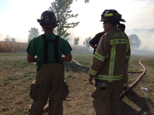 Brush fire prompts home evacuations