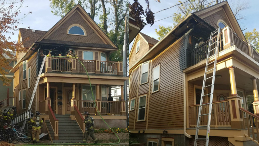 Fire on Johnson Street causes $10,000 worth of damage, officials say
