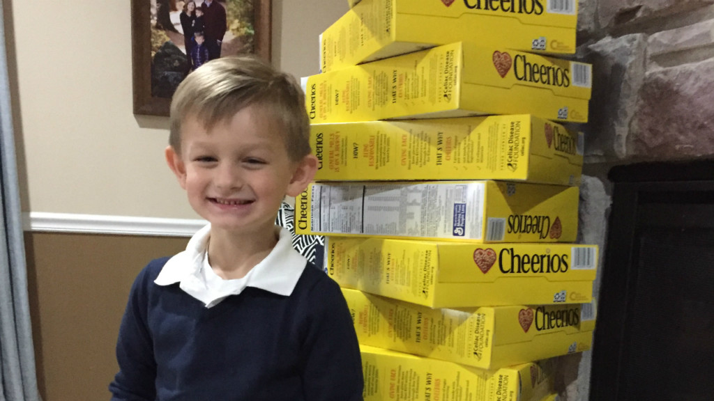 5-year-old raises funds to help feed children and families