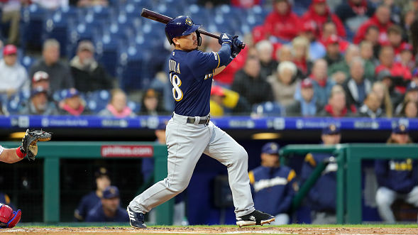 Brewers' Hiura impresses in Major League debut