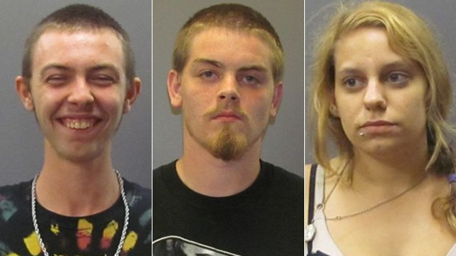 Police: 3 caught stealing from unlocked vehicles