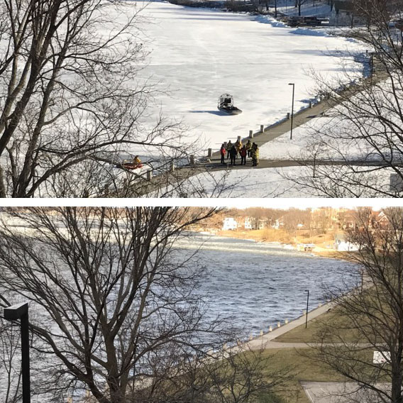 Ice leaves Madison lakes month early
