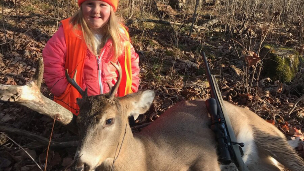 6-year-old girl bags buck under new hunting age law