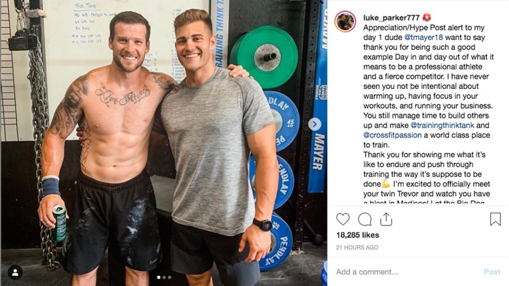 Ex-Bachelorette contestant Luke Parker in Madison for CrossFit Games