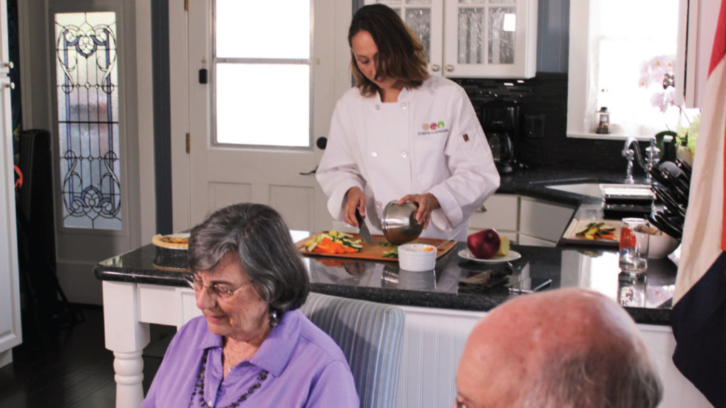 Seniors get meals prepared in their homes by local chefs