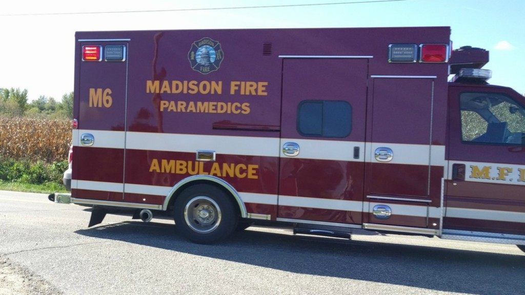 Madison woman taken to hospital after her car struck by stolen vehicle, police say