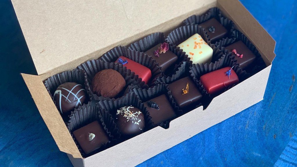 box of chocolates from Madison Chocolate Co.