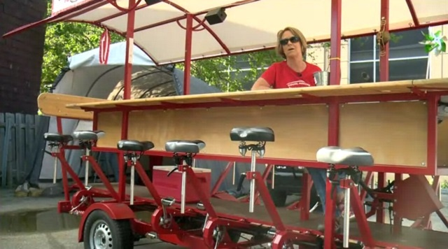 Madison's pedal pub pushes for beer on wheels