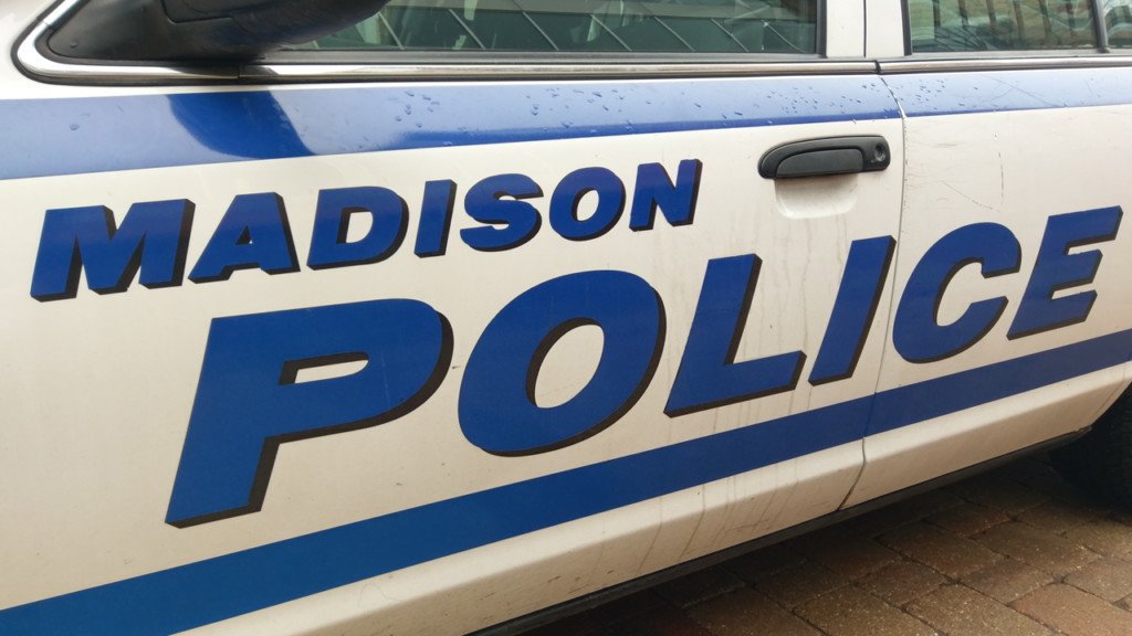 Madison police squad door