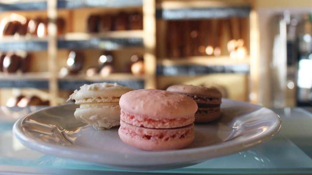 plate of macarons from Madison Sourdough