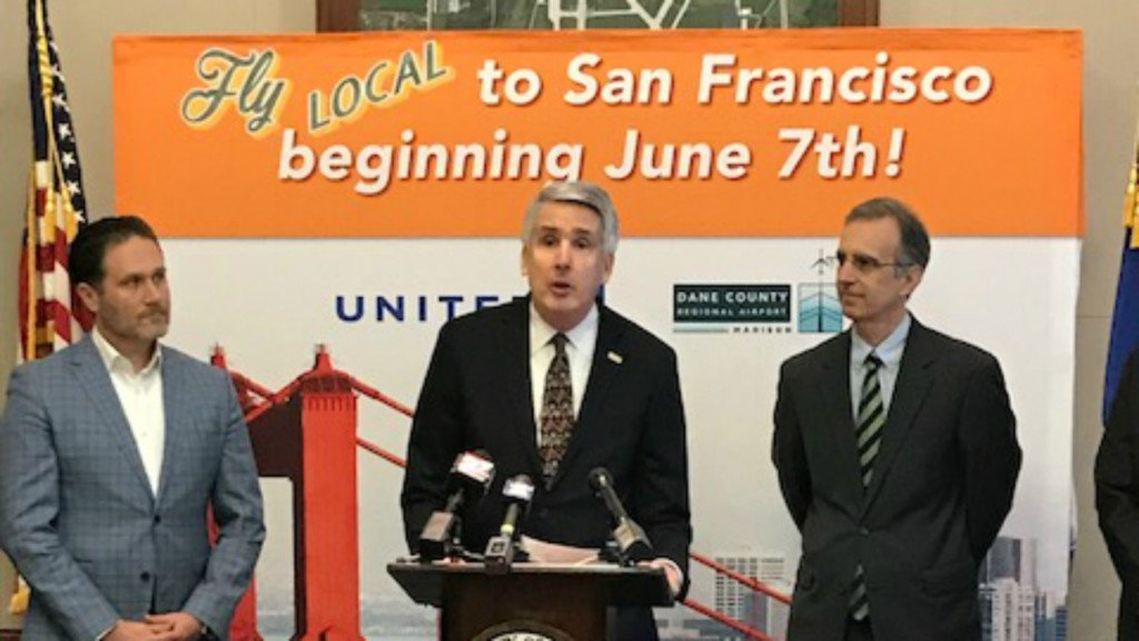 Nonstop flight to San Francisco will be Madison's first daily service to West Coast